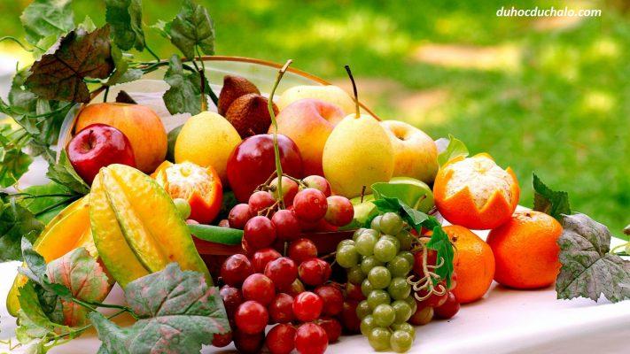 Học tiếng Đức miễn phí theo chủ đề với hoa quả và đồ uống